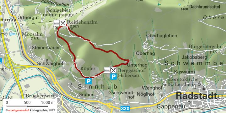 Bauernregelweg in Zauchensee