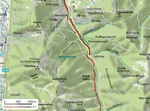 Zauchbachweg nach Zauchensee