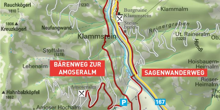 Bärenweg zur Amoseralm Dorfgastein