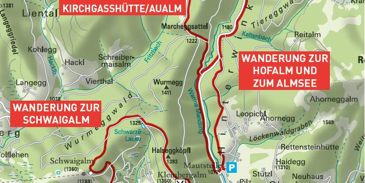 Wanderung zur Kirchgasshütte/Aualm