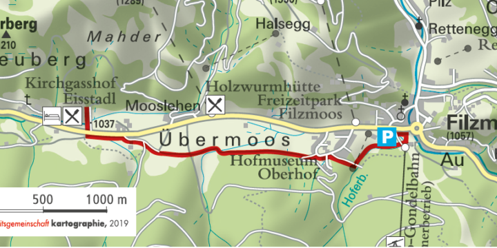 Wanderung zum Kirchgasshof Eisstadl in Filzmoos