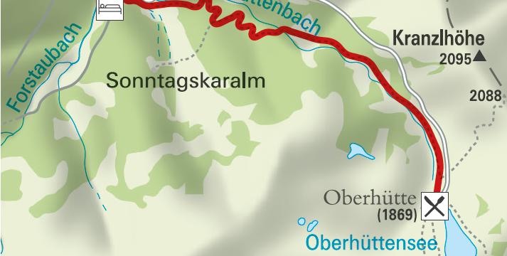 Wanderung zur Oberhütte in Forstau
