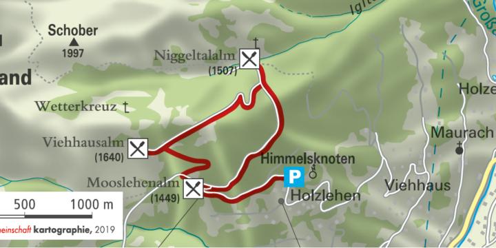 Wanderung zur Mooslehenalm, Niggeltalalm, Viehhausalm
