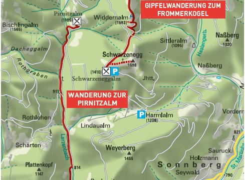 Wanderung zur Pirnitzalm in Hüttau