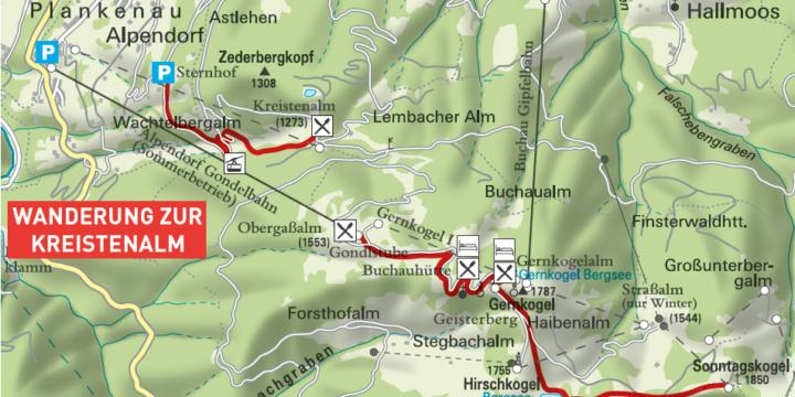 Wanderung zur Kreistenalm in St. Johann - Alpendorf