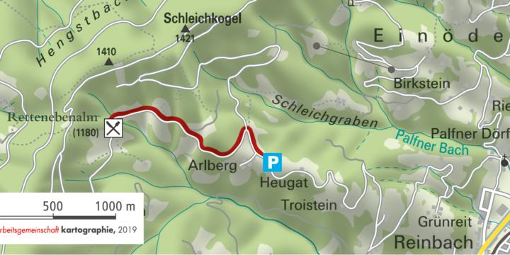 St. Johann - Alpendorf: Wanderung zur Rettenebenalm